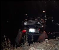 إنقاذ 5 طلاب بعد انقلاب سيارتهم بترعة البلامون بالدقهلية