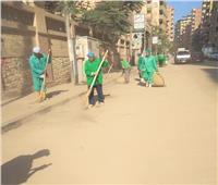 تكثيف أعمال النظافة في الحي الثالث بـ«الإسماعيلية»