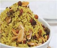 طبق اليوم.. «أرز بسمتي بالفواكه المجففة»