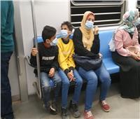 أول يوم «غرامة فورية».. 8 صور ترصد مدى التزام ركاب المترو بـ«الكمامات»