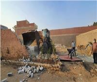 استرداد 300 فدان وإزالة 25 مخالفة بناء بالجيزة