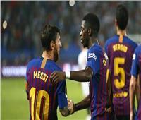 «ميسي وديمبلي» يقودان برشلونة أمام هويسكا في «الليجا»