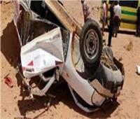 إصابة 4 أشخاص في حادث انقلاب سيارة نقل ببني سويف