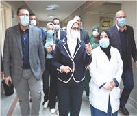 وزيرة الصحة : تجهيز مركز القطامية خلال ٤٨ ساعة لتلقي اللقاحات