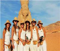 فتيات إيطاليات يروجن للسياحة المصرية بطريقتهن الخاصة.. صور