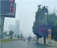 الشبورة المائية تغطي سماء القاهرة