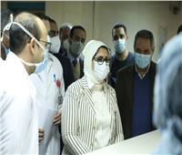 وزيرة الصحة تراجع أرصدة الأكسجين بمستشفى الشيخ زايد   صور