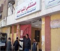 مستشفى المنيا: خروج 4 مصابين في حادث الصحراوي الشرقي