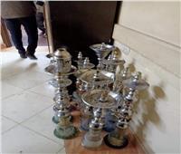 مصادرة 12 شيشة وإزالة 142 مخالفة إشغال طريق بكفر الدوار