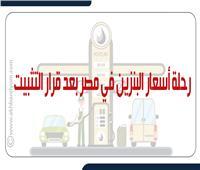 رحلة أسعار البنزين في مصر بعد قرار التثبيت.. إنفوجراف