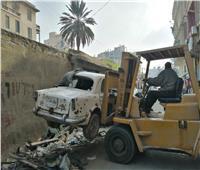 رفع سيارات متهالكة وغلق 5 مراكز للدروس الخصوصية بالإسكندرية
