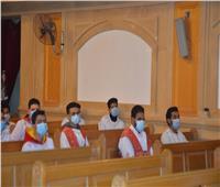 كنيسة الأم دولاجي بإسنا تحتفل بعيد الميلاد وسط إجراءات مواجهة كورونا