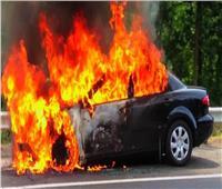 تفحم سائقها.. النيابة تعاين حريق سيارة بدر