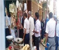 تحرير 22 محضر في حملة تموينية في بني سويف