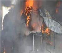 إخماد حريق بحظيرة مواشي بالمنيا