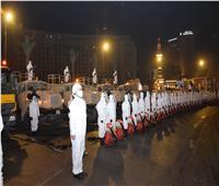 القوات المسلحة تبدأ أعمال التطهير والتعقيم للمناطق التي يتردد عليها المواطنين..صور وفيديو