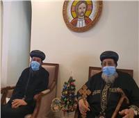 البابا تواضروس يستقبل «الأنبا بموا» للتهنئة بعيد الميلاد