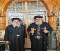 البابا تواضروس يستقبل الأنبا تكلا وأسقف دمياط