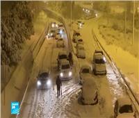 إسبانيا: عاصفة ثلجية نادرة تتسبب في إغلاق مطار مدريد وعدة طرقات
