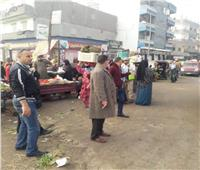 رفع 93 حالة إشغال طريق وفض الأسواق بمركز ومدينة دمنهور