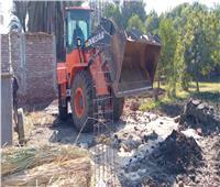 حملة لإزالة تعديات على أرض زراعية بأرمنت