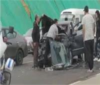 إصابة 8 أشخاص في حادث تصادم بالإسماعيلية
