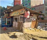 صور  إزالة سوق عشوائي في كرداسة