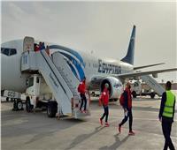 كواليس استقبال مصر للطيران 4 منتخبات لكرة اليد اليوم | صور