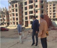 رئيس جهاز مدينة ملوي الجديدة يتفقد أعمال تنفيذ 1024 وحدة سكنية