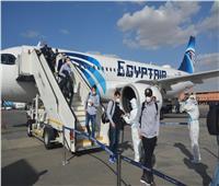 «مطار القاهرة» يستقبل المنتخب السويسري لكرة اليد.. صور