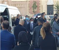 وصول أحمد عز وإسماعيل الشاعر جنازة صفوت الشريف | صور