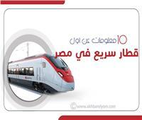إنفوجراف| 10 معلومات عن أول قطار سريع في مصر