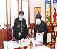 البابا تواضروسيستقبل 3 أساقفة بالكنيسة في القاهرة