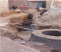 إحلال وتجديد خطوط الصرف الصحي بشارع محي الجبلاوي بأسوان