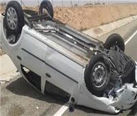 إصابة شخصين في حادث انقلاب سيارة ملاكي ببني سويف