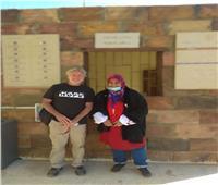 بعد افتتاحه..أول زائر لمعبد «إيزيس» من أستراليا