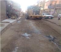استمرار أعمال حملات النظافة بشوارع ملوى بالمنيا