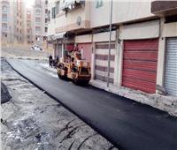 استكمال أعمال رصف الطرق وصيانة بالوعات الأمطار في بورفؤاد