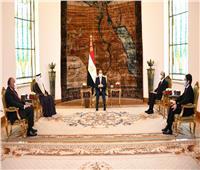 الرئيس السيسي : الخطوط المعلنة في ليبيا هدفت لتحقيق التوازن