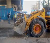 إزالة إشغالات الطريق بفيكتوريا الإسكندرية ورفع كفاءة الإنارة