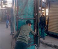 غرامات فورية وإزالة ١٥ كشكا و٢١ سقيفة مخالفة بالإسكندرية