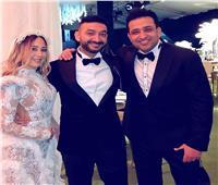 أول صورة من حفل زفاف نادر حمدي