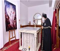 البابا تواضروس يلقى كلمة عقب تدشين كاتدرائية العذراء والقديس مكاريوس