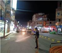 حملات مسائية لتطهير الشوارع والمحال في البحيرة.. صور
