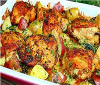 صينية البطاطس بالدجاج من أشهى وأطعمالأكلات