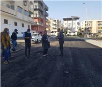 رئيس «دمياط الجديدة»يتابع أعمال رفع كفاءة الطرق بالحى الأول بالمدينة