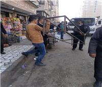 حملات مكبرة لإزالة الإشغالات بمدينة الزقازيق
