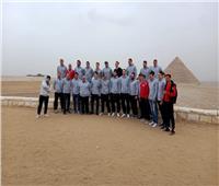 منتخب سويسرا لكرة اليد في جولة سياحية بالأهرامات | صور