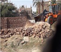 إزالة 3 حالات بناء على أراضي زراعية في الأقصر بمساحة 450 متر