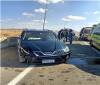 إصابة 7 من أسرة واحدة في انقلاب سيارة بطريق «السخنة - القطامية»